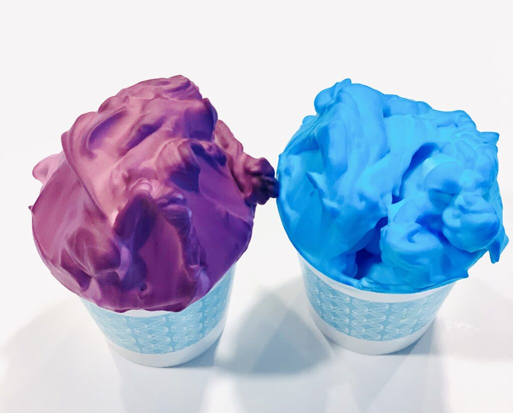Purple and Blue Puffy Paint