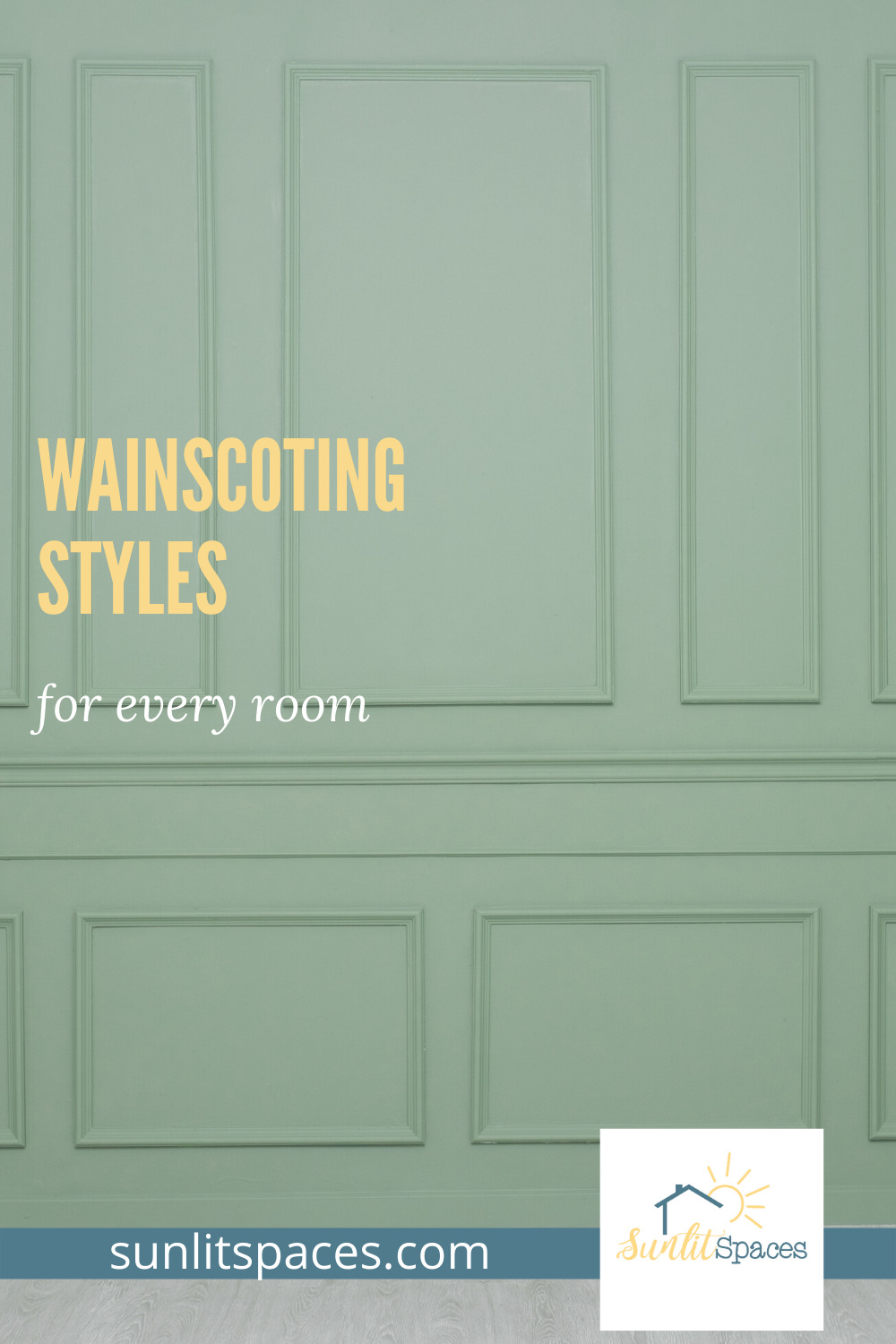 I love wainscoting. They make a house look amazing. They are definitely a WOW factor when it comes to woodworking. Read this post for ideas that you can use in your home. This is an easy DIY project. #wainscotingstyles #DIYprojectideas #homedecor #sunlitspacesblog