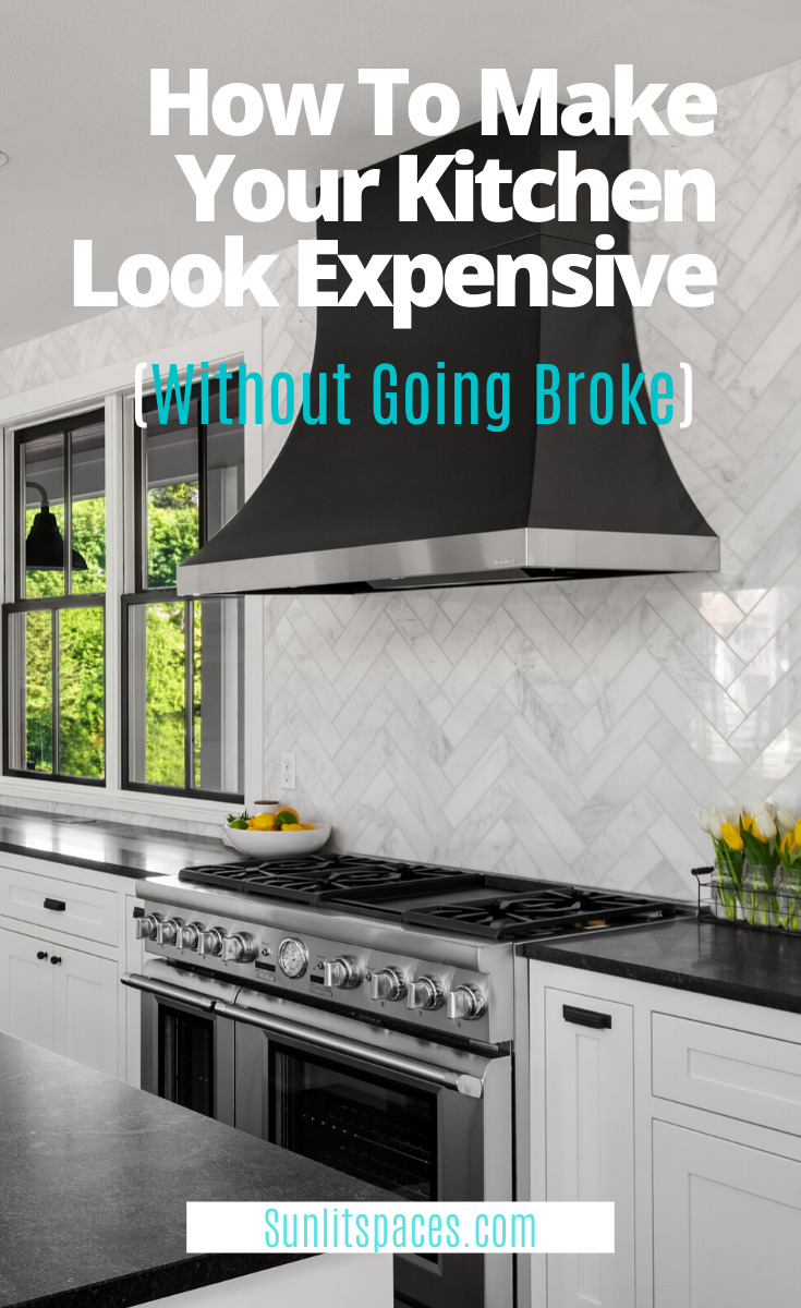 Kitchen makeovers don't need to cost a fortune. You just need to know a few tips and tricks about decorating and what looks expensive but really is cheap. Read this post for some suggestions. You will be glad you did! #kitchenmakeover #kitchenupgrades #DIYhomeimprovement