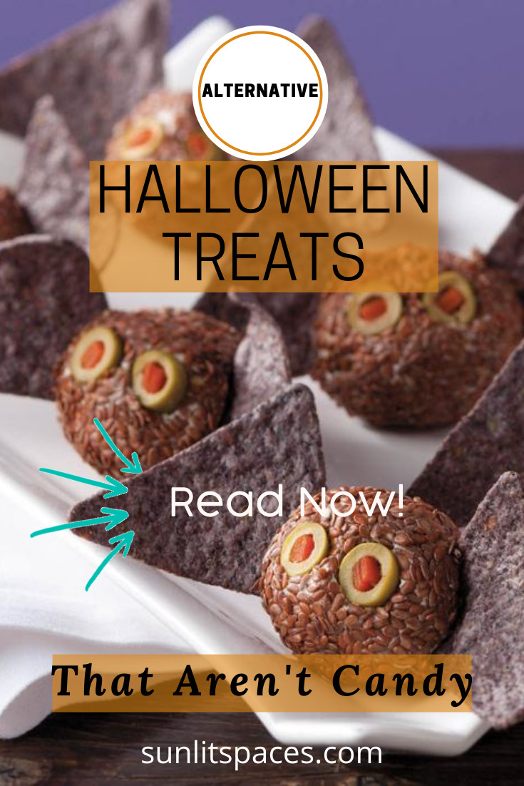 Have some fun at Halloween without all the sugar! These Halloween alternative treat ideas will have you rolling in your grave! #sunlitspacesblog #halloween #trickortreat