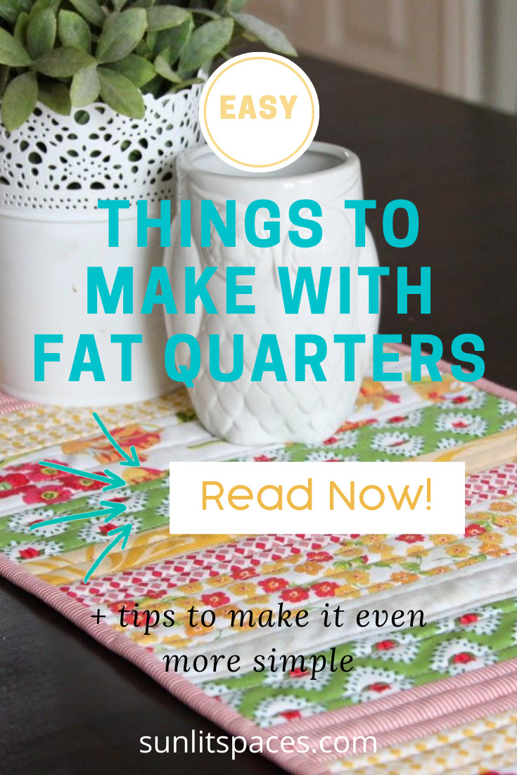 When you can buy a fat quarter for little more than a thin dime (or a red cent), you should do it! Why? Because there are lots of great things you can make with them! Come along and I'll show you one or two you'll want to start today! #sunlitspacesblog #diyprojects #craftstosew