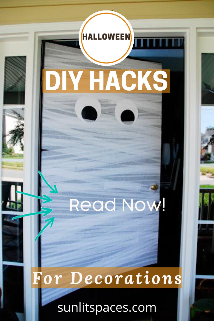 Halloween is a great holiday for DIY enthusiasts and these DIY Halloween hacks are awesome for decorations. If you want some awesome decoration tips, keep reading. Happy Halloween. #halloween #DIYhacks #sunslitspacesblog