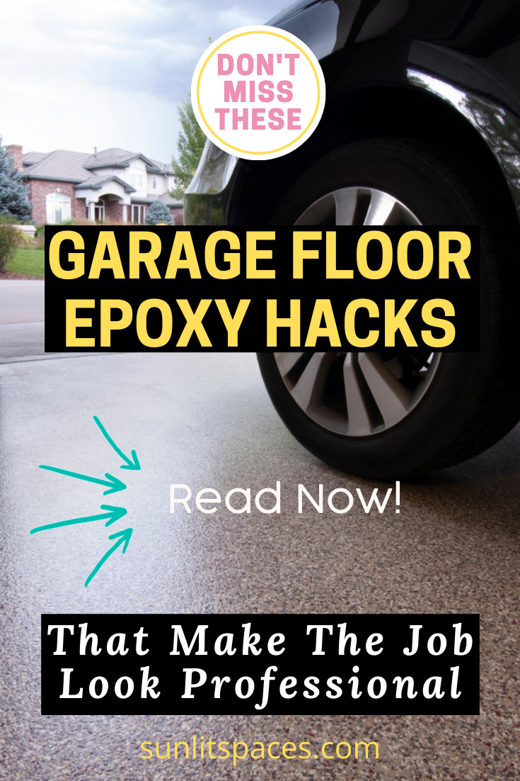 Save big doing your own garage epoxy floor, but don't try it until you know what you're doing! These tips and tricks for doing your epoxy garage floor will help you avoid common problems with a tricky process. #garagefloor #paintedgaragefloor