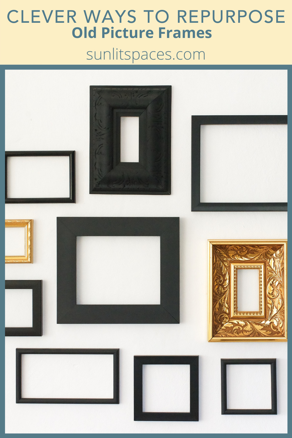 Sunlitspaces.com has the ultimate list of DIY and repurposing projects. Find loads of clever ideas for reusing old objects and materials to save yourself money, time, and resources. Check out these awesome uses for old picture frames you have lying around.
