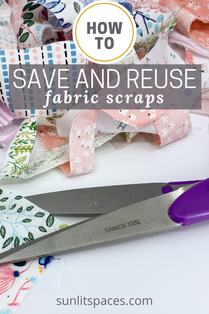 Sunlitspaces.com is all about creating projects and decor you're sure to love. If you're left with loads of small fabric scraps after some of your projects, don't let them go to waste! Try out these creative ideas for repurposing fabric pieces.