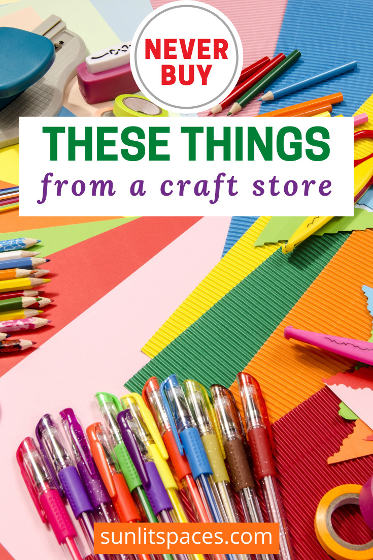 Sunlitspaces.com will help you find the perfect space with DIYs, crafts, and more! Before you get into your next project, spend your money in the right places. Check out these things you should never buy at a craft store!