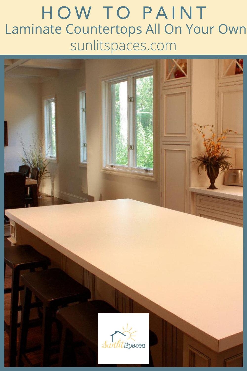 Sunlitspaces.com is all about making your space your own. Find your personal style and create a home you love. Get started on a kitchen makeover with these tips for painting laminate countertops.
