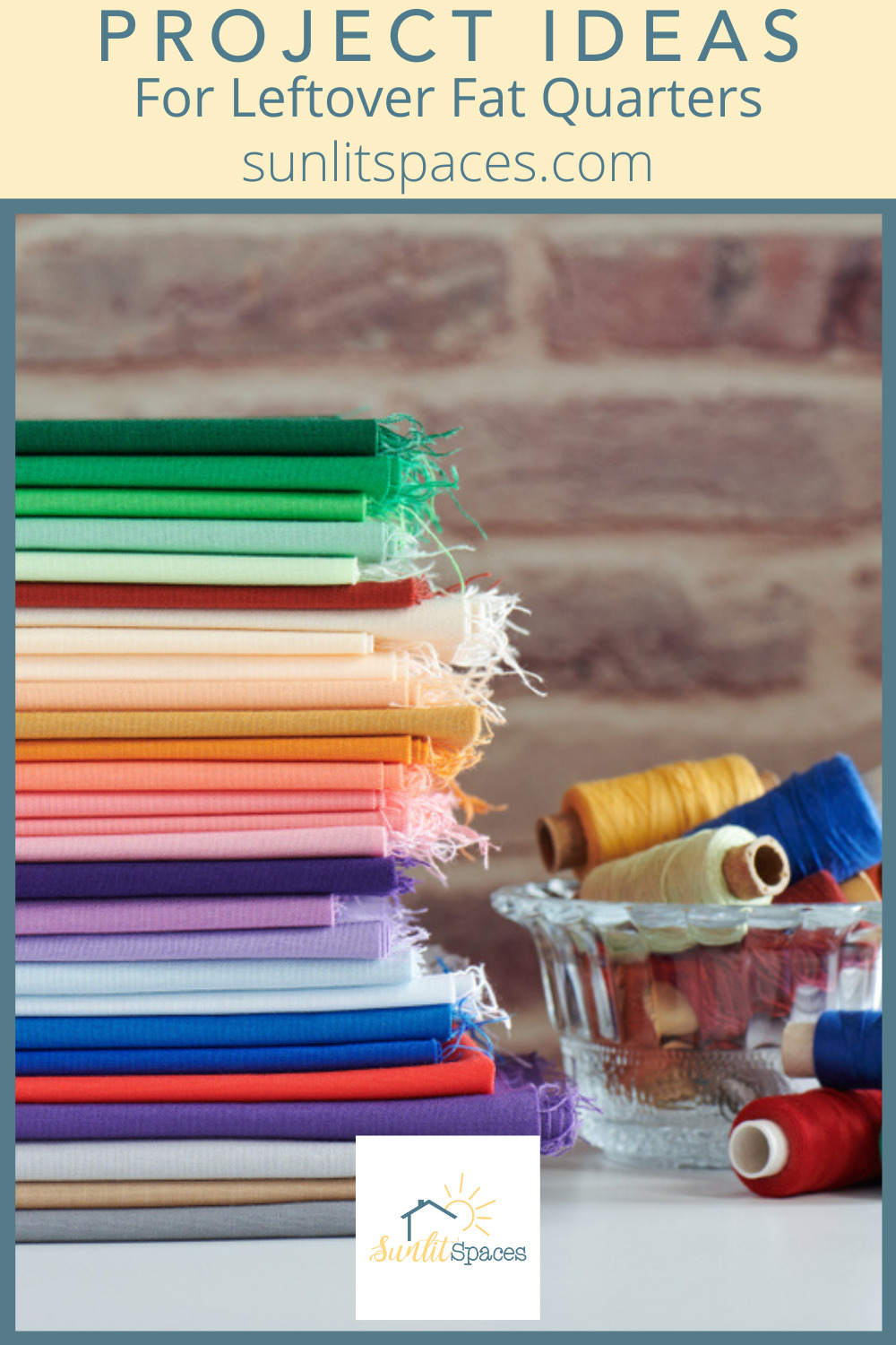 Sunlitspaces.com knows a thing or two about DIY and craft projects. Find simple tricks to step up your craft game now. If you're into quilting, these ideas are perfect for your spare fat quarters.
