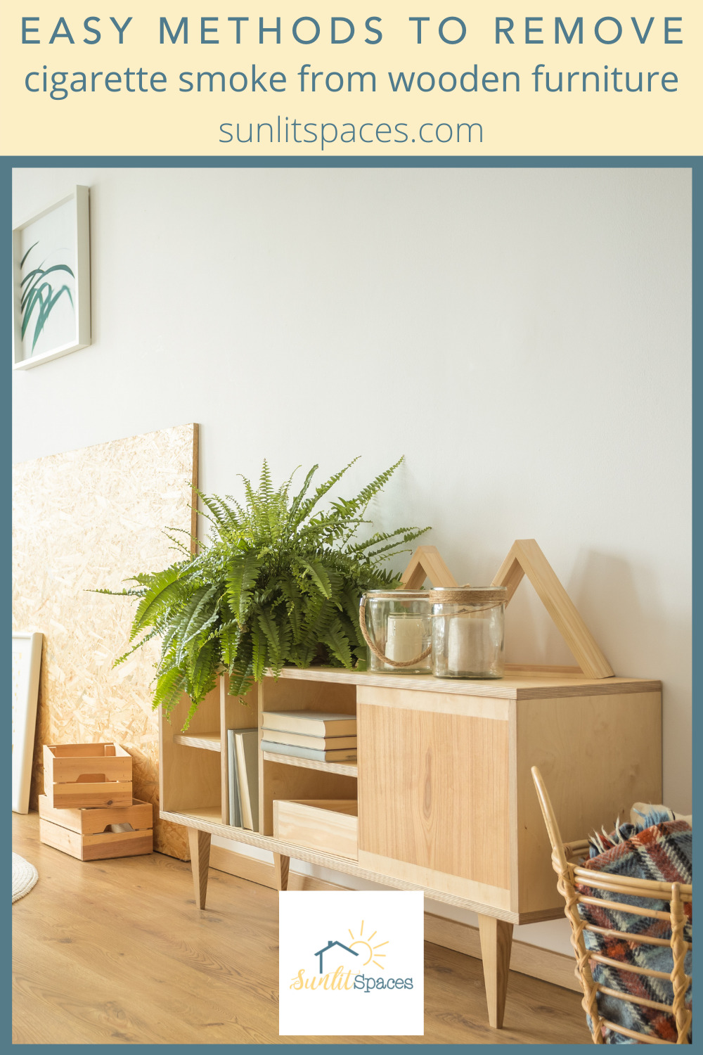 Sunlitspaces.com has the best ideas to help you design and execute a perfect living space! Find creative ways to make your place feel like home. Get rid of that horrible smell with these solutions for removing cigarette smoke from wood furniture.