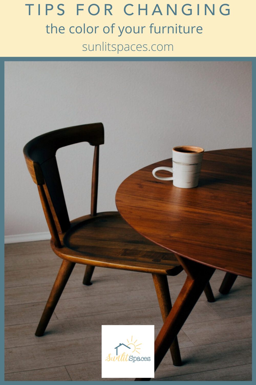 Sunlitspaces.com has the best tips for anyone interested in spicing up a drab space. Find out all you need to know before your next project. Learn how to change the color of any of your furniture now!