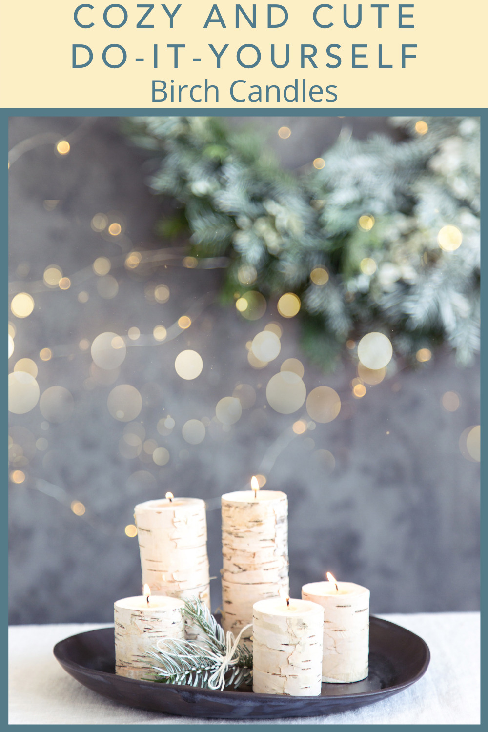 Sunlitspaces.com has the best tips for anyone interested in spicing up a drab space. Find out all you need to know before your next project. Customize a cozy space with these easy DIY birch candles!