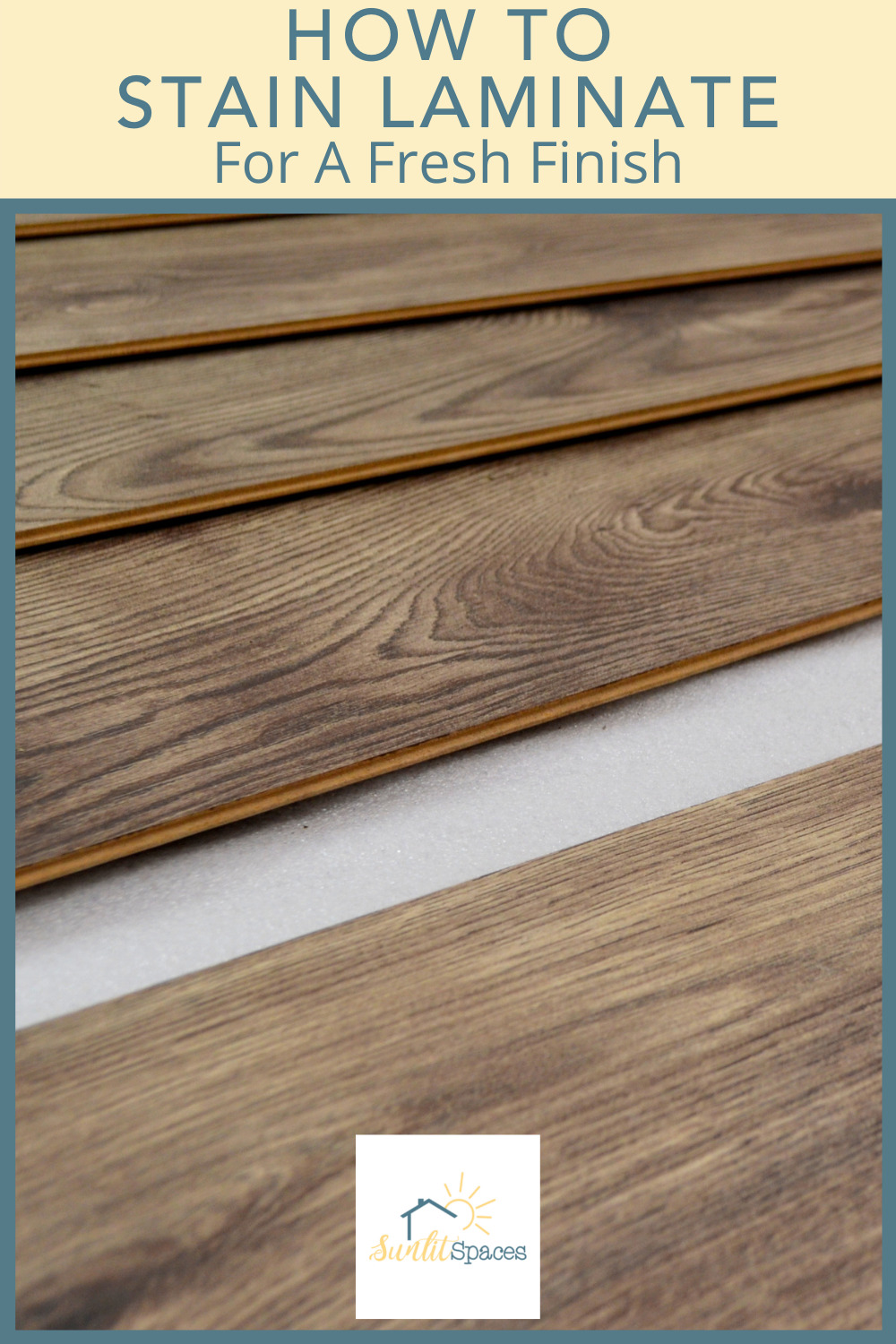 Sunlitspaces.com has all you need to know to create a perfect, personalized space. Know the best techniques for giving old furniture new life. Learn how you can stain laminate surfaces with these easy tips!