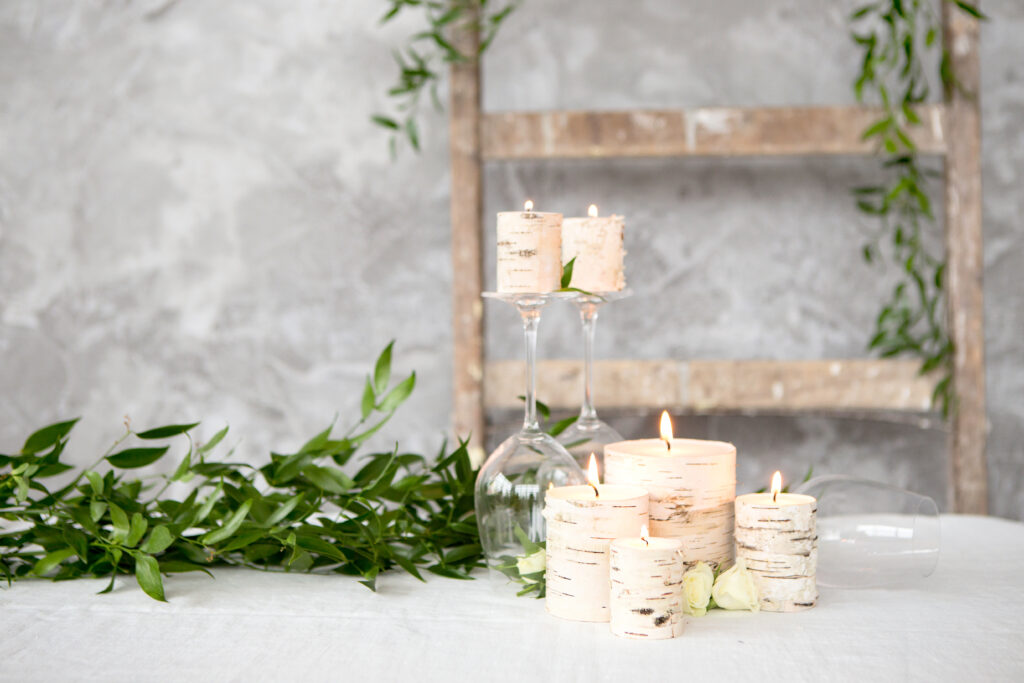 Easy steps to make birch candles
