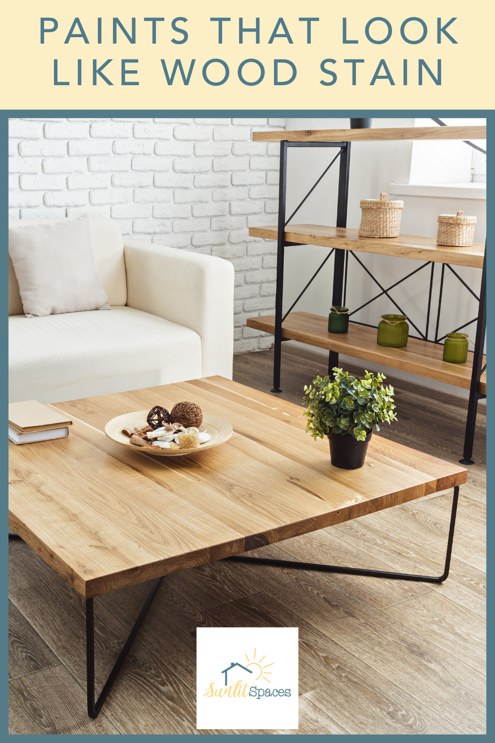 Sunlitspaces.com has all you need to know to create a perfect, personalized space. Know the best techniques for giving old furniture new life. Learn how you can paint your furniture to look like it was wood stained!