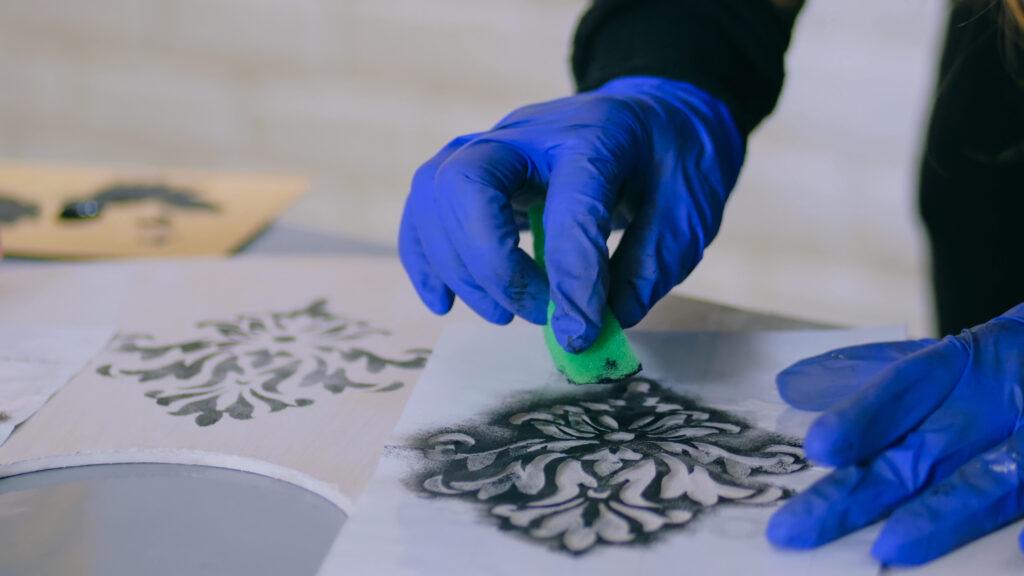Tracing your DIY Stencil