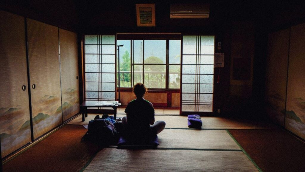 Japanese home décor can involve creating a space for meditation