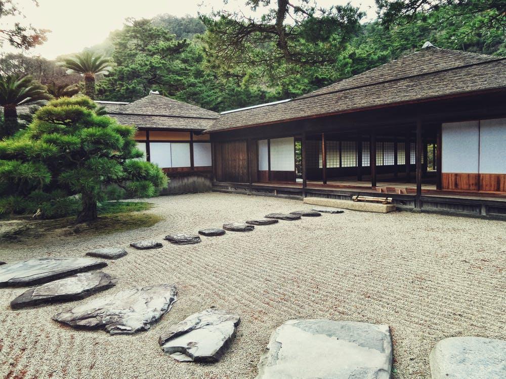 Japanese home décor may contain an outdoor Zen garden